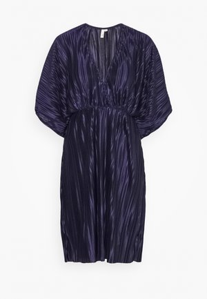 PLEATED KIMONO DRESS - Cocktailkjoler / festkjoler - navy