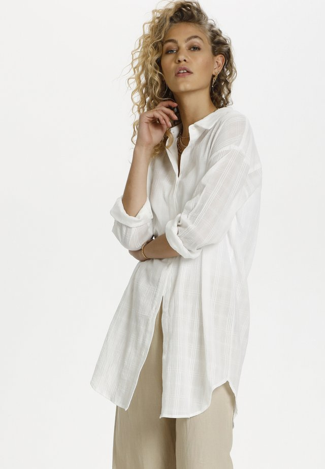 DHTIA - Button-down blouse - snow white