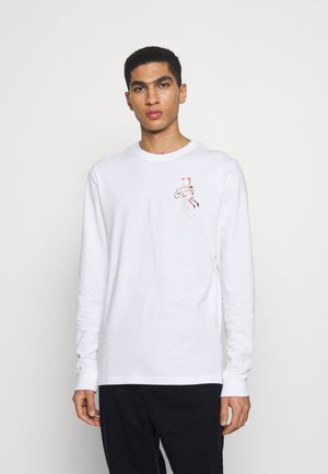 JMPMN CREW - Long sleeved top - white/chile red