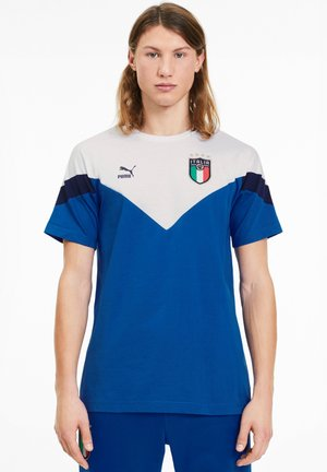 ITALIEN FIGC ICONIC MCS TEE - National team wear - team power blue puma white