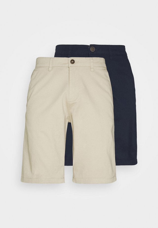 JJIDAVE 2 PACK - Shorts - navy blazer