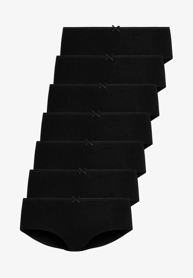 7 PACK - Pants - black