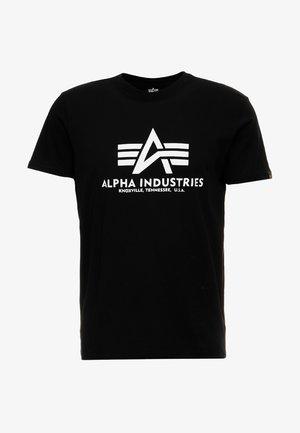 BASIC - T-shirt con stampa - schwarz