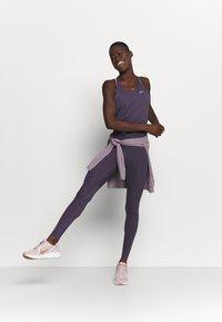 Nike Performance - DRY ELASTIKA TANK - Sports shirt - dark raisin/pink glaze - 1