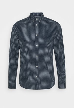 REGULAR PRINTED - Shirt - dark blue/white