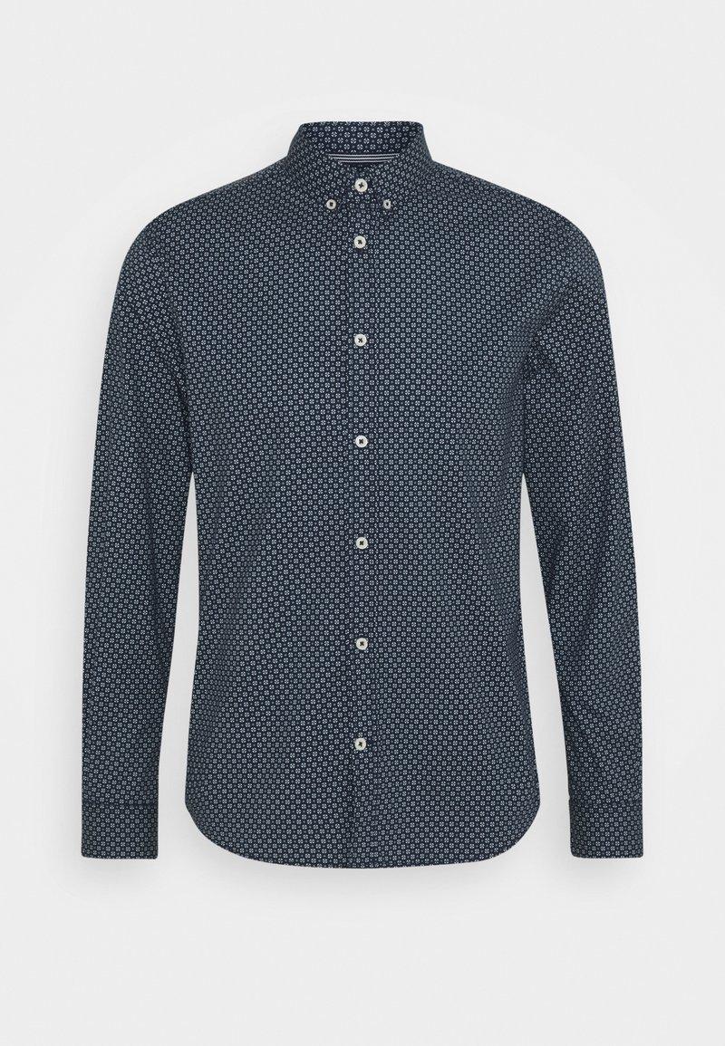 TOM TAILOR - REGULAR PRINTED - Shirt - dark blue/white