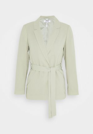 WASHED WRAP JACKET - Chaqueta fina - green