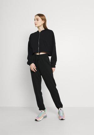SET - Oversized Sweat Jacket & Jogger - Zip-up sweatshirt - black