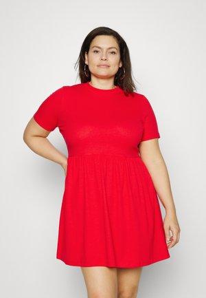SMOCK DRESS WITH POCKETS - Jumper dress - burgundy