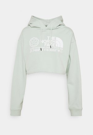COORDINATES CROP DROP HOODIE - Sweatshirt - green mist