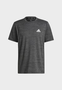 adidas Performance - M HT EL TEE - T-shirt z nadrukiem - black melange - 6