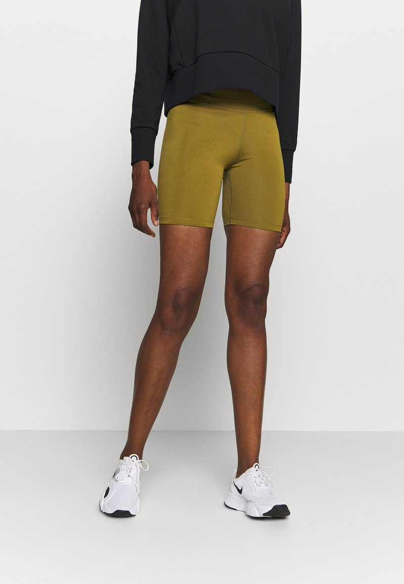Nike Performance - ONE SHORT - Legging - olive flak/white