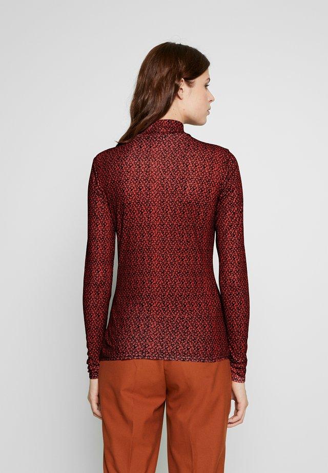 TWIST NECK FLORAL - T-shirt à manches longues - red