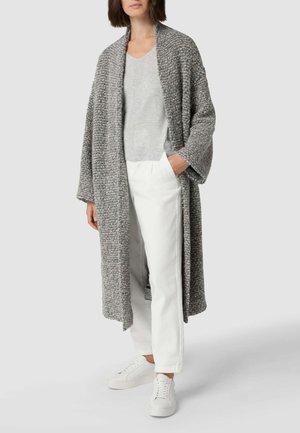 Classic coat - hellgrau meliert