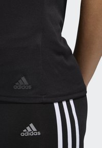 adidas Performance - RUNNING 3-STRIPES T-SHIRT - T-Shirt print - black - 4