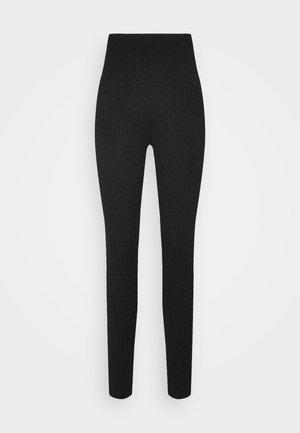 CABLE KNIT LEGGING - Leggings - Trousers - black