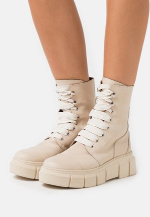 CAN  - Platform ankle boots - beige