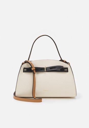 MARGHERITA M TOP HANDLE - Handbag - pergamena/nero/miele