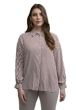 Button-down blouse - marrone
