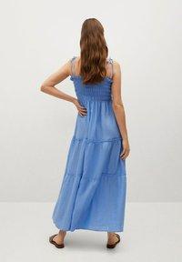 Mango - Maxi dress - blauw - 1