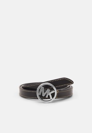 FLIP TIE BELT - Cintura - black/silver-coloured