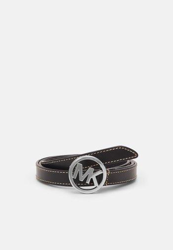 FLIP TIE BELT - Belt - black/silver-coloured