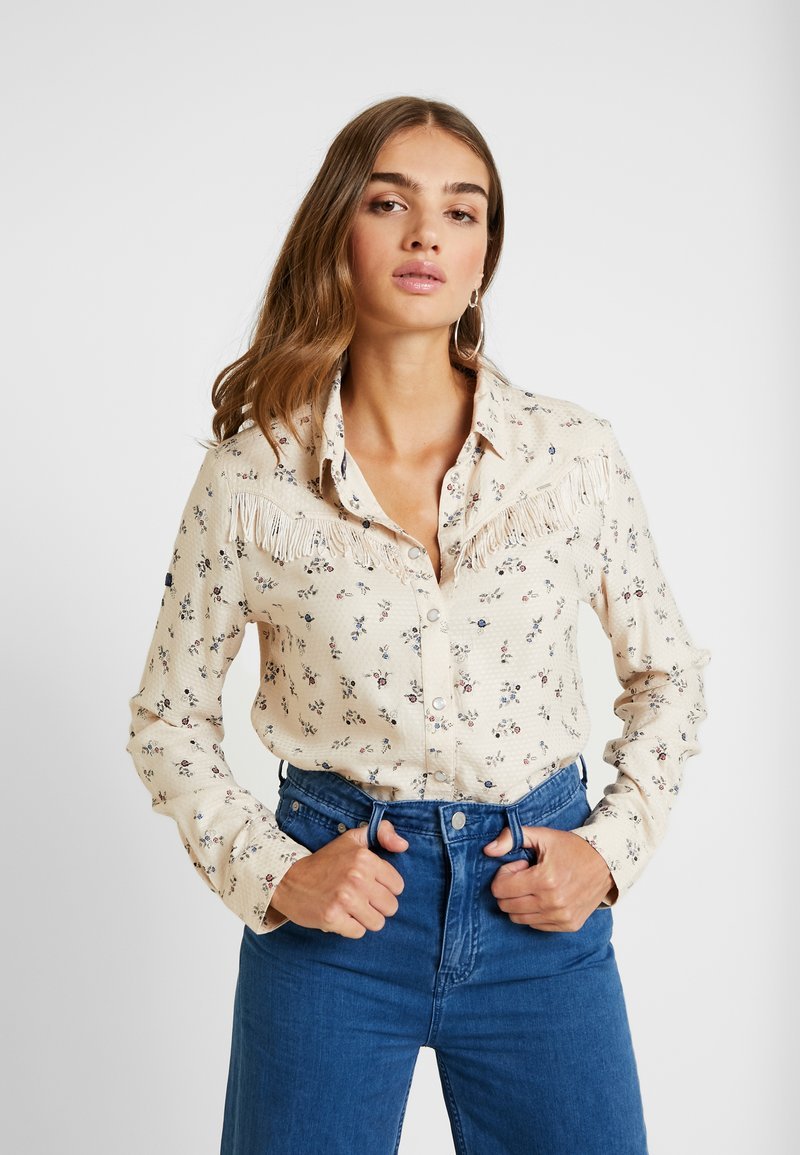 Superdry - JOLENE WESTERN - Button-down blouse - pink print