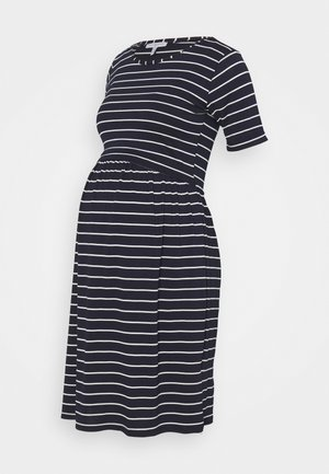 LIMBO - Jersey dress - navy blue/off-white