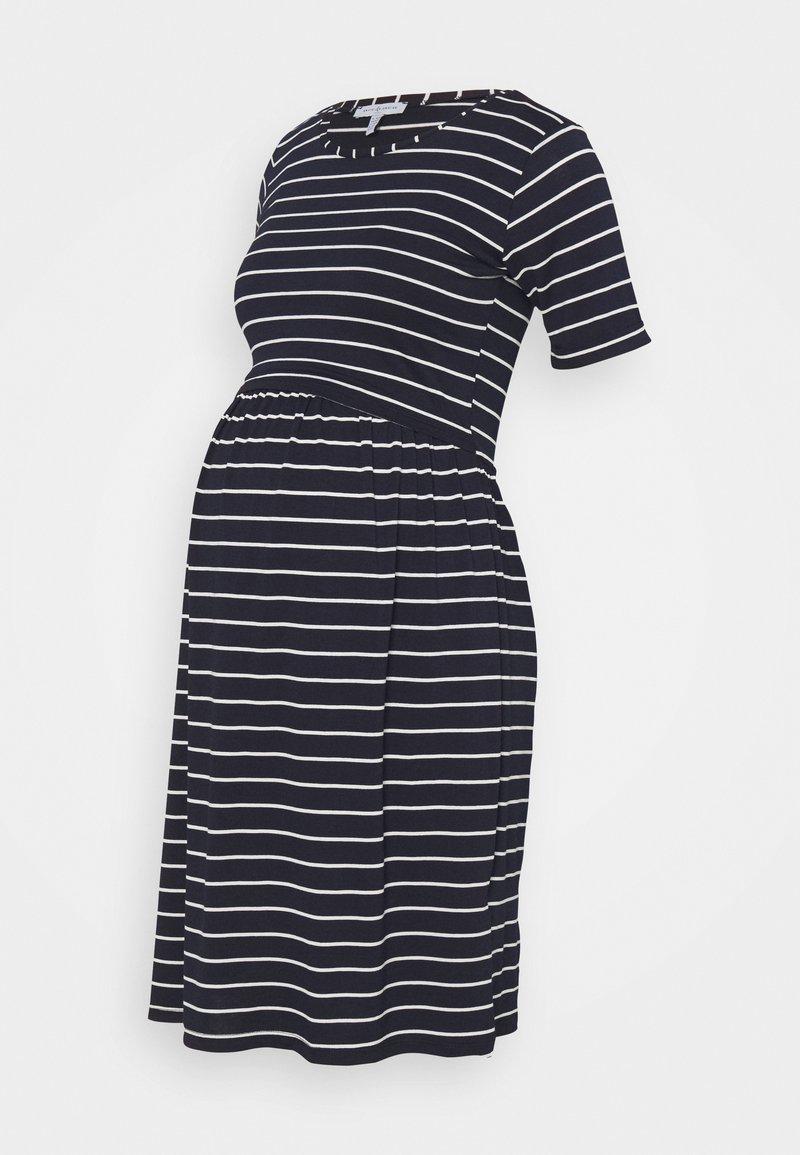 Envie de Fraise - LIMBO - Jersey dress - navy blue/off-white