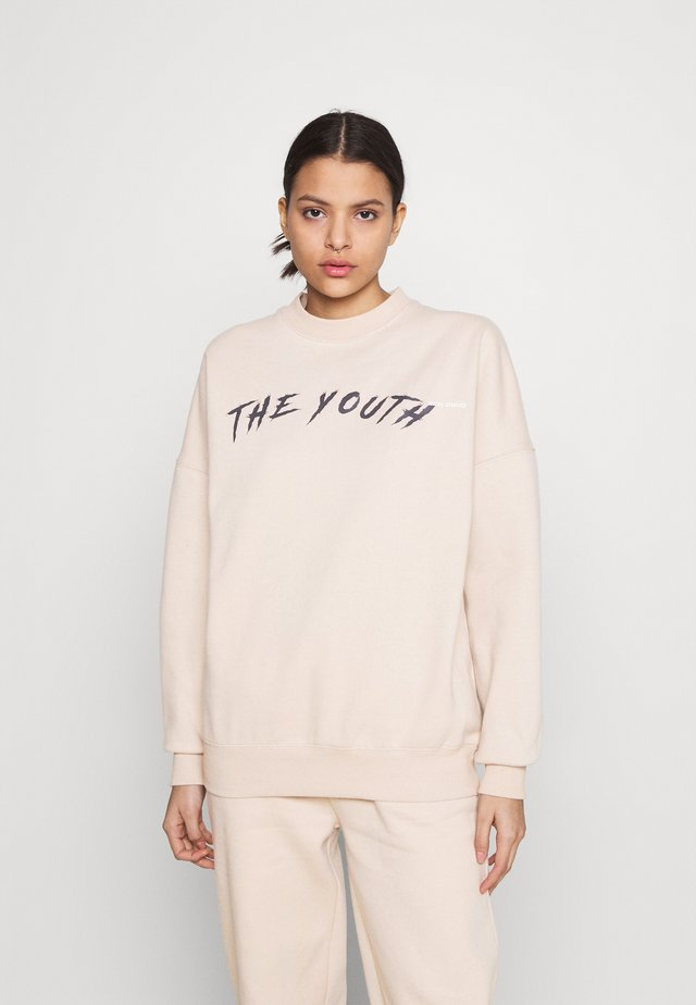 YOUTH COLLAGE CREWNECK - Sweatshirt - nude