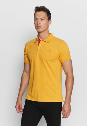 CONTRAST COLLAR RUGGER - Polo - ivy gold