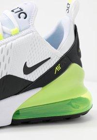 Nike Sportswear - AIR MAX 270 ESS - Sneakers - white/black/volt - 5