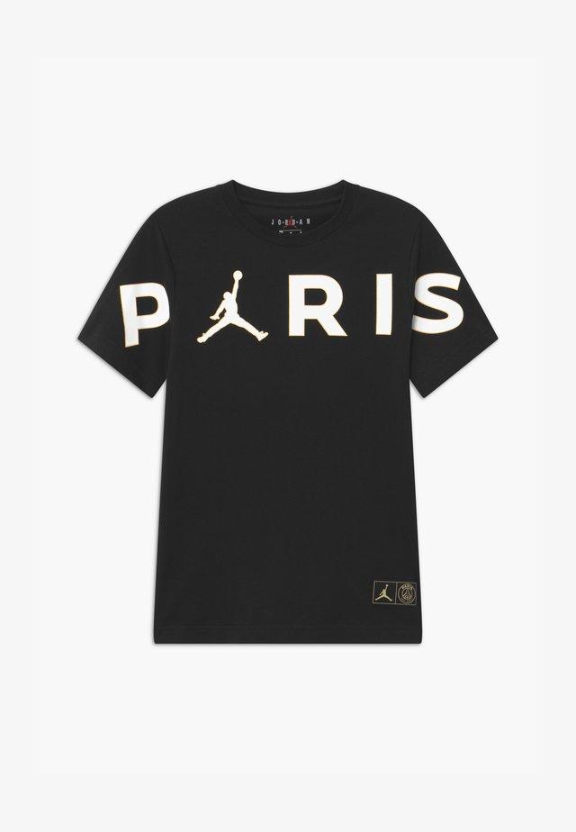PARIS HEADER - Triko spotiskem - black