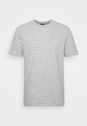 ONSMICK LIFE STRIPE TEE - T-shirt print - light grey