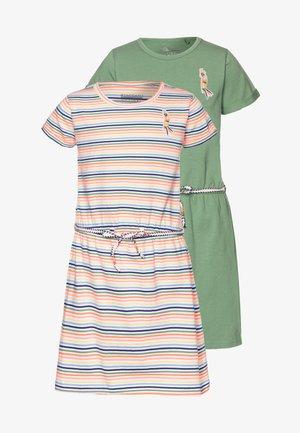 2 PACK - Jerseykleid - neon peach