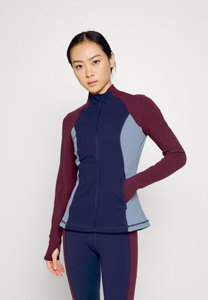 POWER WORKOUT ZIP THROUGH JACKET - Training jacket - steel blue