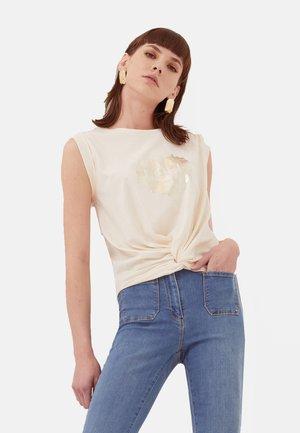 NŒUD - Camiseta estampada - bianco