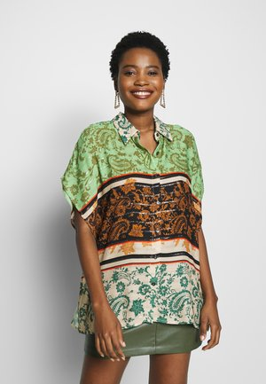 POMPEYA - Button-down blouse - viejo cactus