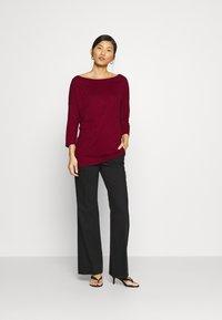Sisley - Long sleeved top - dark red - 1
