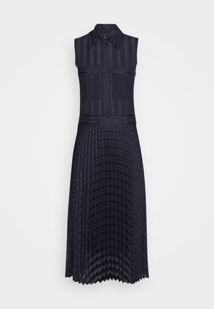 PLEATED DETAIL DRESS - Robe chemise - midnight blue