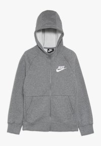 Nike Sportswear - FULL ZIP - Felpa aperta - carbon heather/white - 0