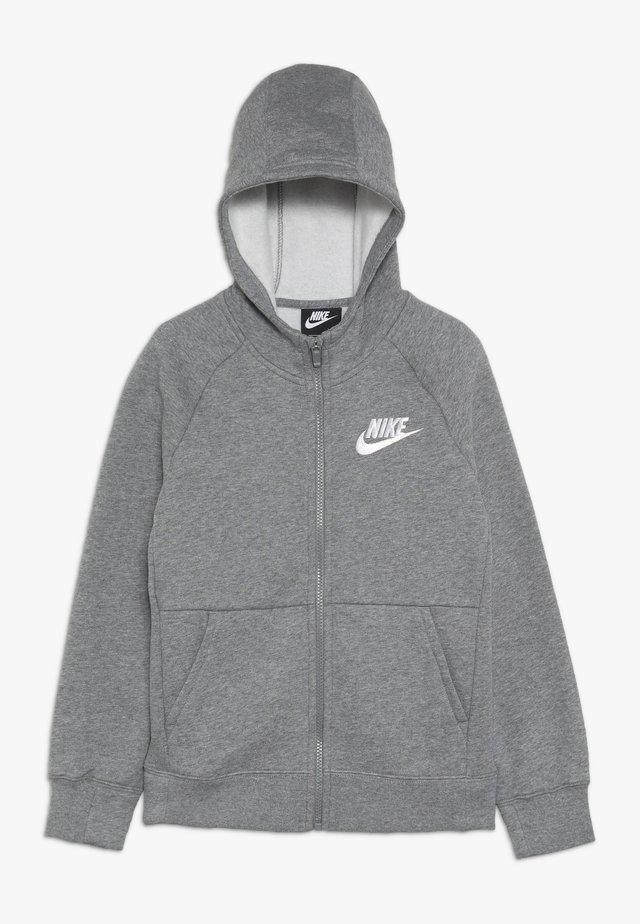 G NSW PE FULL ZIP - veste en sweat zippée - carbon heather/white