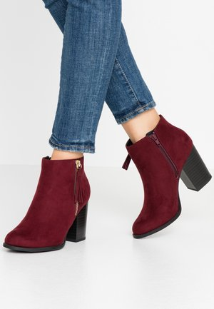 WIDE FIT DASSEL  - Ankle Boot - dark red