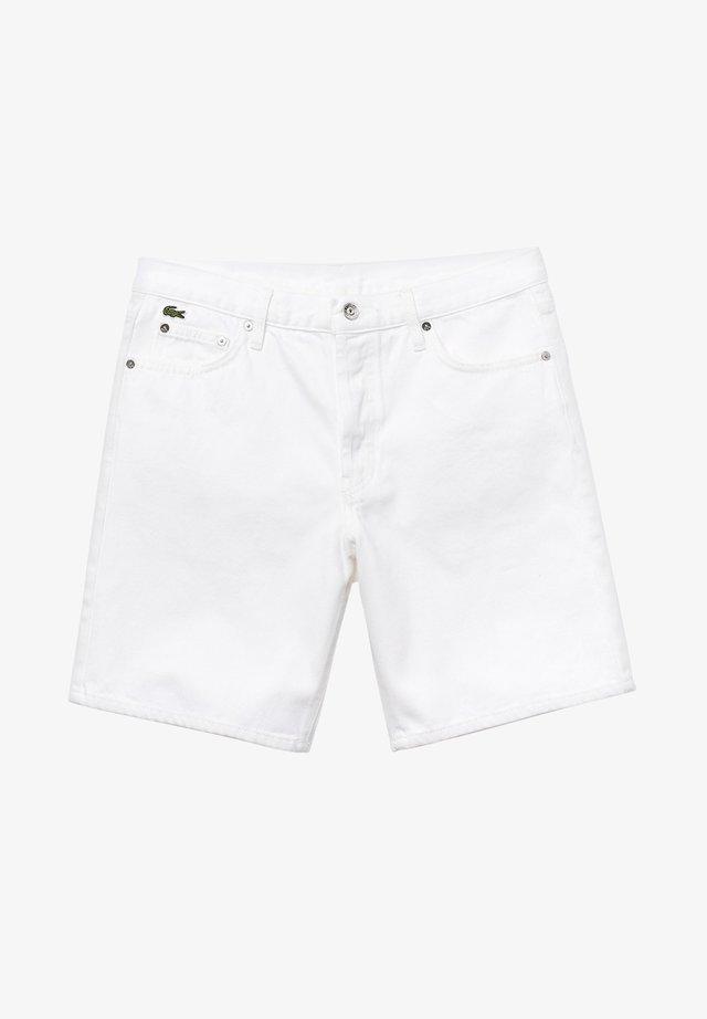 LACOSTE LIVE - BERMUDA HOMME - FH3947 - Short en jean - white