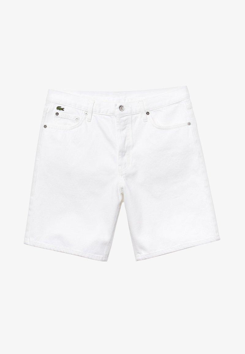 Lacoste LIVE - LACOSTE LIVE - BERMUDA HOMME - FH3947 - Denim shorts - white
