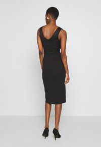 WAL G TALL - V NECK TOP SPLIT MIDI DRESS - Cocktailkjole - black - 2
