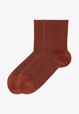 Socks - rot  brick red mesh
