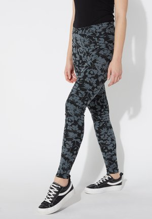Leggings - Trousers - nero st.floral