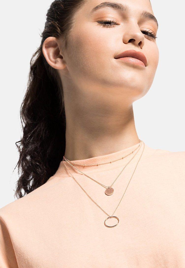 QOOQI - Necklace - rosegold-coloured