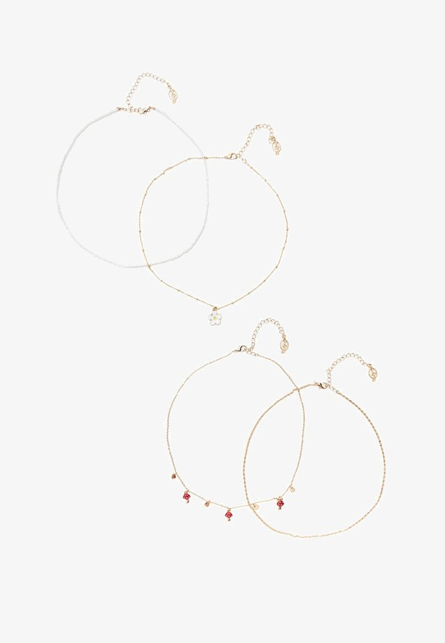 4 PACK - Ketting - gold